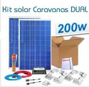 KIT solar autocaravanas 200 W- Carregador p/ 2 baterias
