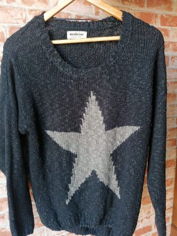 Medicine | sweter | gwiazda | kolor jeansowy | kolor dżinsowy