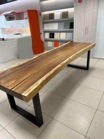 Nowoczesny Stół Loft z drewna egzotycznego SUAR długość 280cm