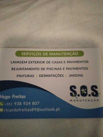 Manutenção de vários tipos de serviço
