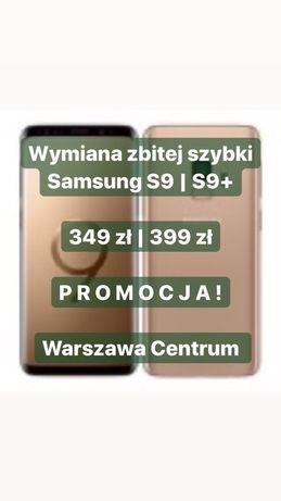 Wymiana zbitej szybki wyświetlacza Samsung s9 s9+ Warszawa