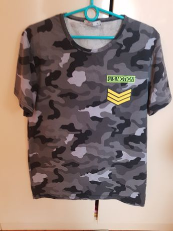 Koszulka t-shirt w moro czarno szare rozmiar M