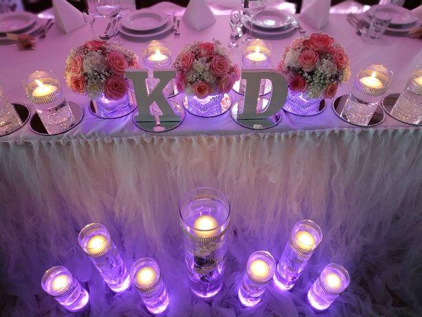 Dekoracja sali, pleneru - ślub, wesele