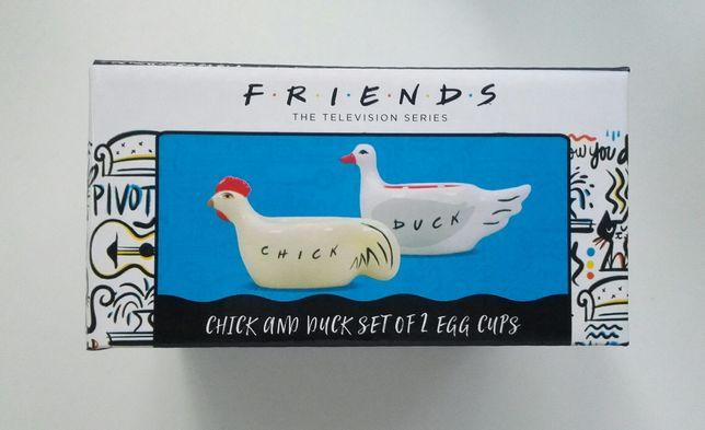 FRIENDS chick and duck - podstawki do jajek 7,5 x 5,5 cm