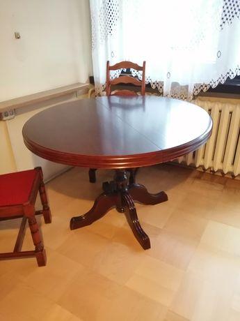 Drewniany rozkładany okrągły stół