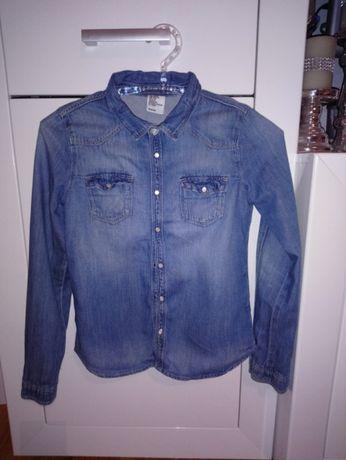 Koszula jeansowa h&m 152