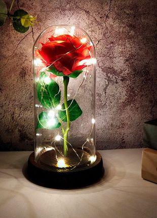 Вечная роза в колбе с LED подсветкой  ! Топ подарок!