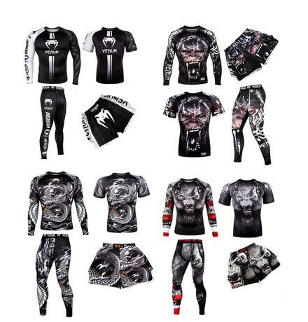 Комплект 3 в 1 Venum Gorilla, WEREWOLF, Dragon венум рашгард, футболка