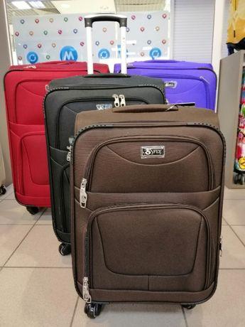 Тканевой чемодан 4 колеса СКЛАД-МАГАЗИН Валіза Fly 1220 САМОВЫВОЗ