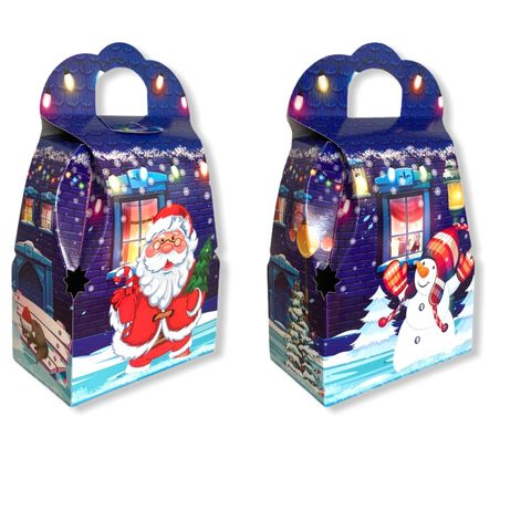 Новорічна упаковка коробка на цукерки до 800г