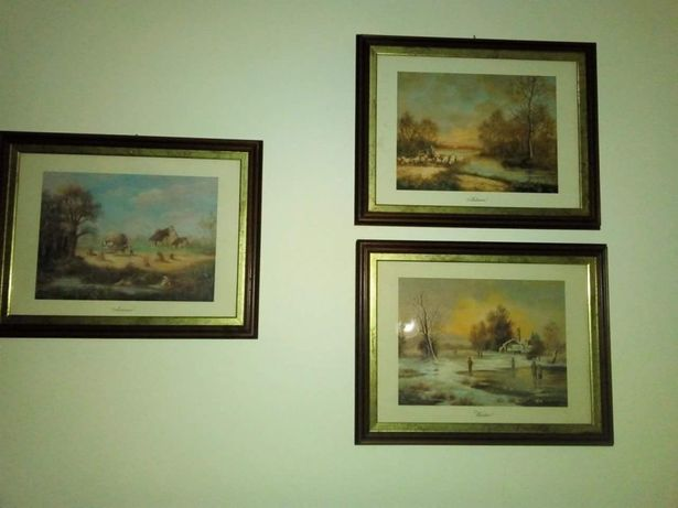 Conjunto de quatro quadros