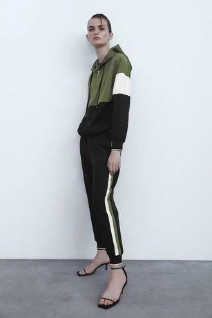 Calças jogger com faixa lateral ZARA T. XS como novas