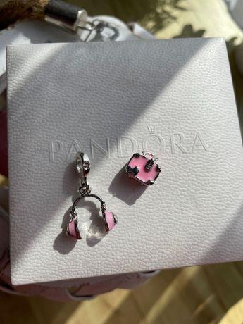 Charms Pandora walizka i słuchawki travel pudrowy róż