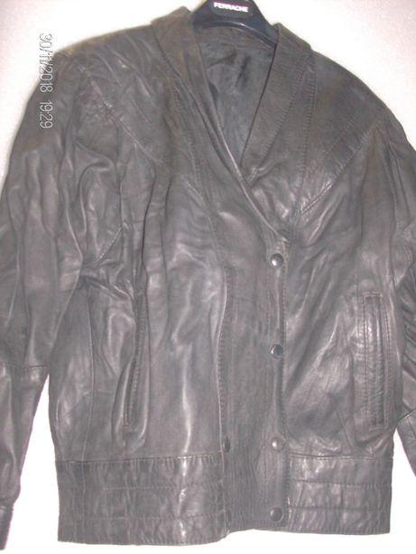 blusão preto de pele de senhora M 38