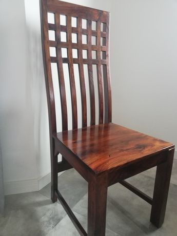 Krzesło kolonialne, indyjskie, drewniane 6 szt.
