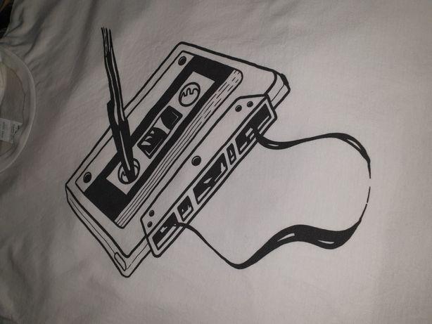 NOWA kuszulka retro oldschool kasety magnetofonowe lata 90 rap hiphop