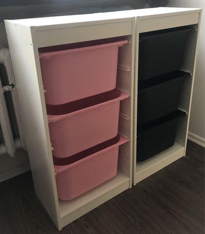 Regał szafka biały Ikea Trofast pojemnik słupek komoda na zabawki