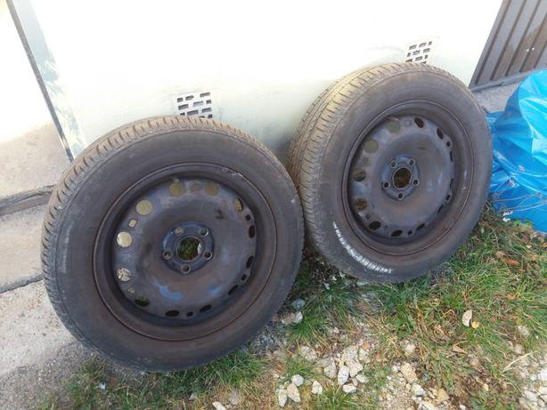 """Felgi stalowe 15"""" 5x100 2x Opony 185/60/15 letnie wbdb stanie VW,Skoda"""
