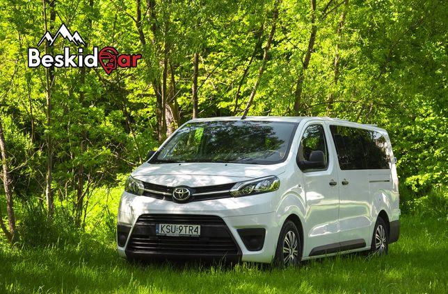 Wynajem bus Toyota Proace Long 9 osobowy van nie trafic vivaro