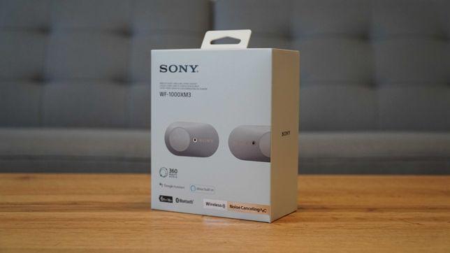Słuchawki Sony WF-1000XM3 - stan IDEALNY, 23m-c gw