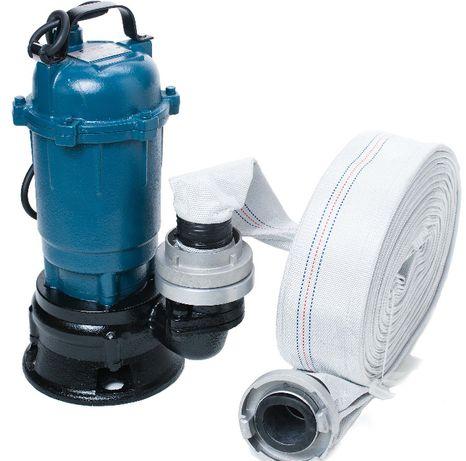 Pompa do wody brudnej szamba z rozdrabniaczem + wąż 60m