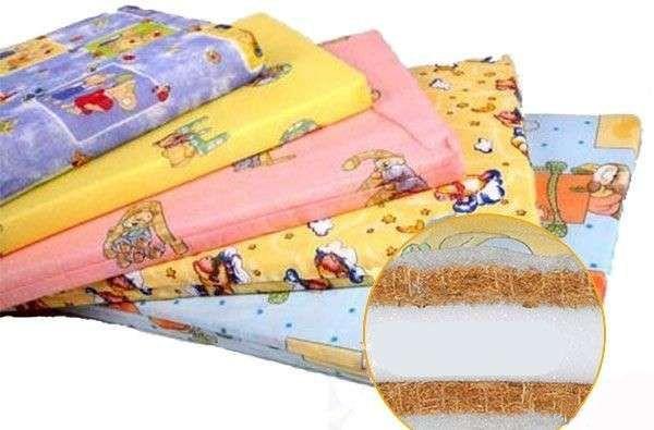 Матрас в детскую кроватку, новый, кокос, двухслойные, трёхслойный