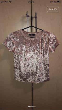 Piękna pudrowo różowa bluzeczka