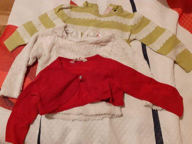 Bluza,sweterek,bolerko w rozmiarze 92-98 dla dziewczynki GRATIS getry