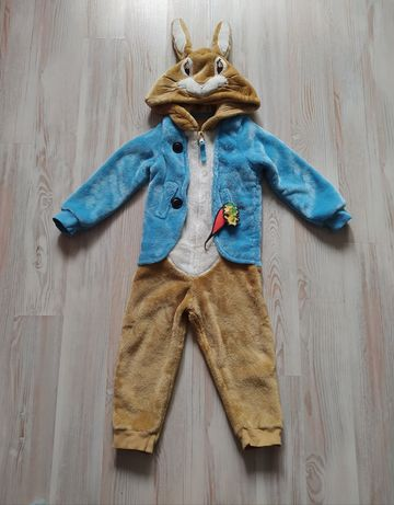 Карнавальный костюм кигуруми человечек пижама Кролик Питер 1,5-2года