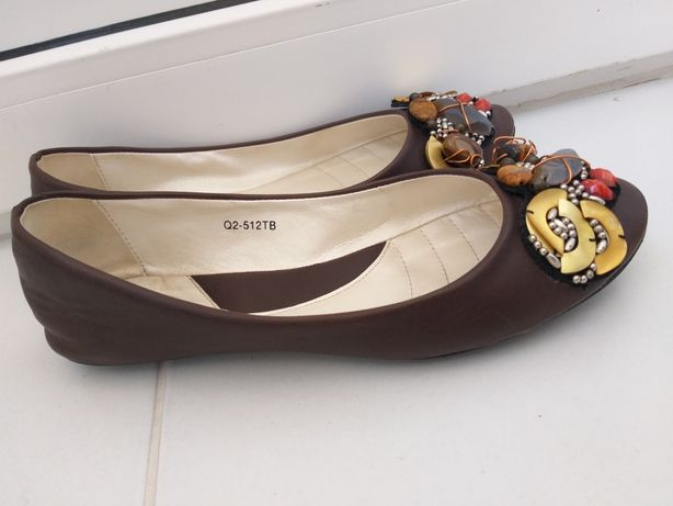 Балетки, мокасины, туфли размер 38, стелька 24,5см 650 руб.