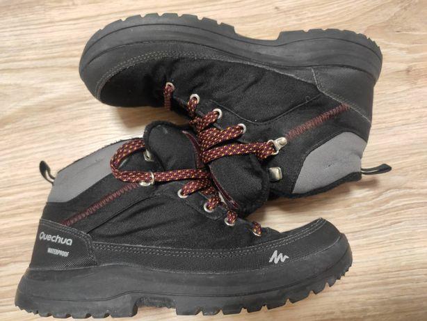Ботинки на мальчика черные QUECHUA SH100 39 Размер 25.2 см стелька