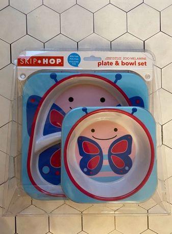 Оригинал Skip Hop Zoo набор тарелки 2 шт Божья коровка Скип хоп
