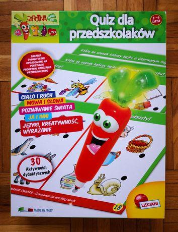 Gra zabawka edukacyjna Quiz dla przedszkolaków 3-4 lata W-wa