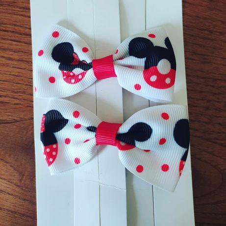 Laços de cabelo para criança Mickey e Minnie