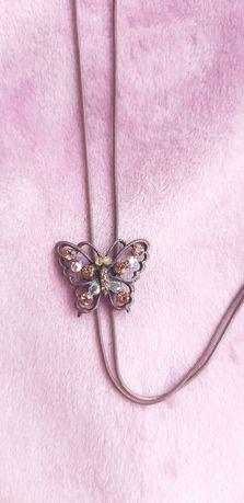Подвеска цепочка чокер украшение брошь бабочка под медь river island