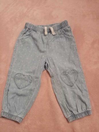 Spodnie dla dziewczynki z H&M roz 80.