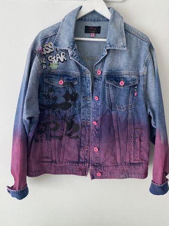 Prawie nowa  jeansowa kurtka L fracomina disney  miki mini