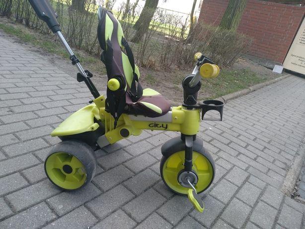 Rowerek trójkołowy z prowadnikiem