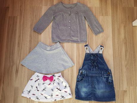 Sukienka i sweterek F&F, spódnica rozmiar 9-12m / 80cm