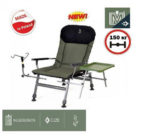 Кресло для рыбалки карповое с обвесом Elektrostatyk FK5P STP Польша