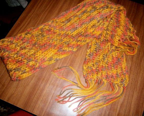 шарф теплый зима осень