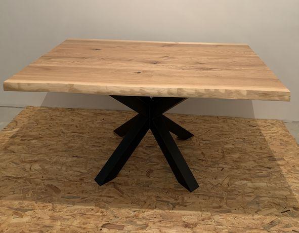 Nowoczesny stół dębowy rozkładany styl loft industrial producent różne