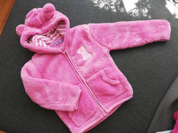 Różowa Bluza miś 92