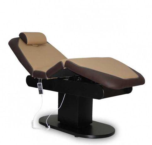 Elektryczny fotel kosmetyczny do zabiegów, masażu i rzęs.