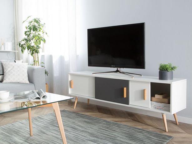 Móvel de TV branco INDIANA - Beliani