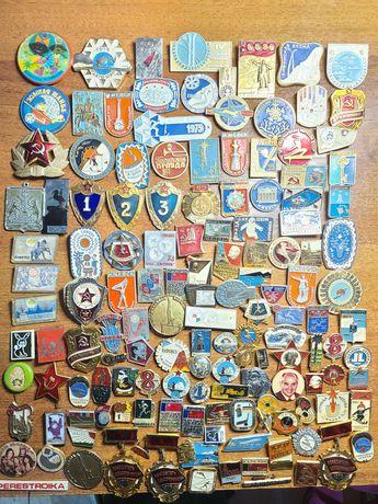 Значки СРСР СССР 150 штук Різні Теми Чудовий Стан 100