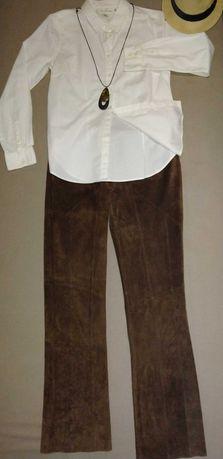 Женские замшевые брюки и юбка