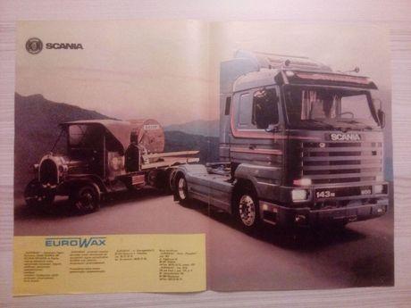 Plakat Poster Scania 143M 500 V8 4x2 Streamline 33,5cm x 47cm EuroWax