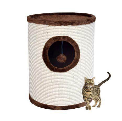 17019 Drapak dla kota 50cm TUBA z legowiskiem pompon na sznurku