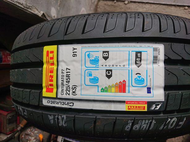 Komplet nowych opon letnich  Pirelli CINTURATO P7 225/45R17